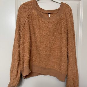 free people boucle sweater